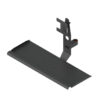 articulating arm mount for computer monitor and keyboard