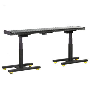 industrial sit stand height adjustable roller conveyor