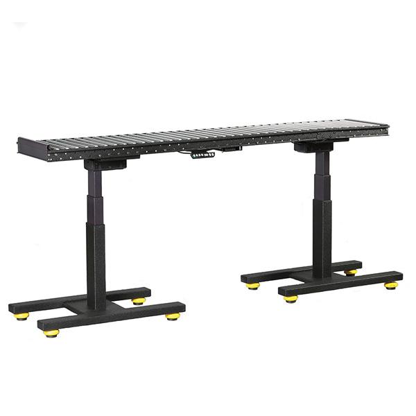 industrial sit stand height adjustable roller conveyor