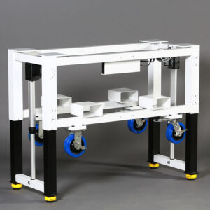 Modular Height Adjustable Frame for Machine Base or Work Bench, Up Position