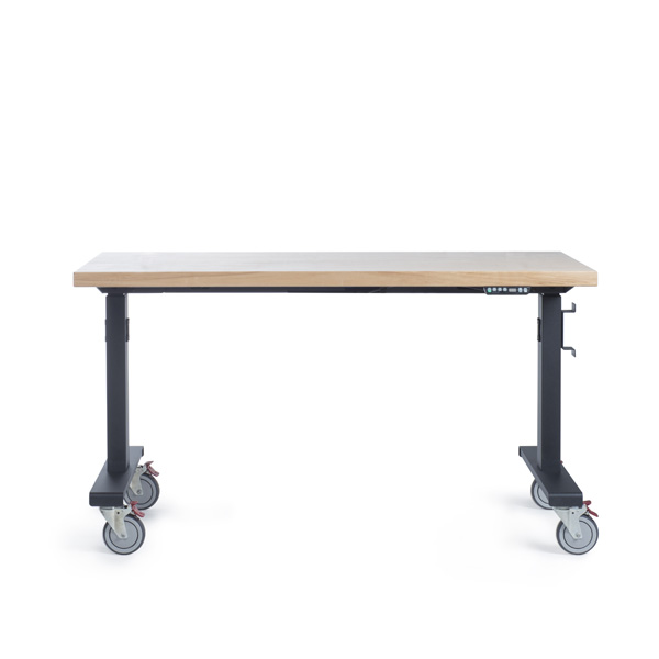 industrial sit stand height adjustable work bench