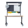 industrial sit stand height adjustable workstation